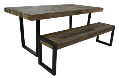 SALE Flea Market Dining Bench in Natural Rustic