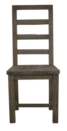 Coventry Ladderback Dining Chair in Salvage grey