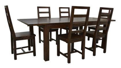Coventry Large Extending Table 180/244 x 110cm. In Coffee Bean