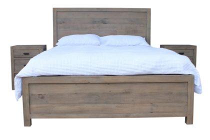 Beachwood King Bed Frame in Salvage Grey