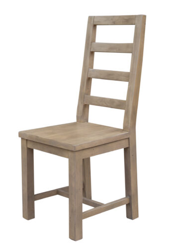 DISCONTINUED Coventry Ladderback Dining Chair in Salvage grey