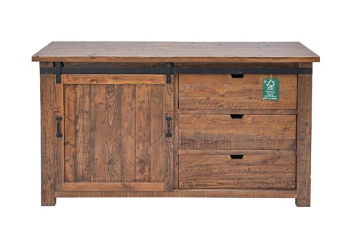 ONLY 2 LEFT Barnyard Large Sideboard in Coffee Bean