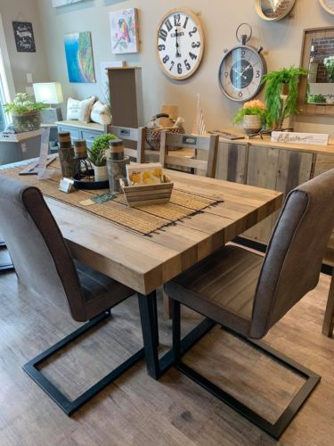 Flea Market Dining Table in Natural Rustic