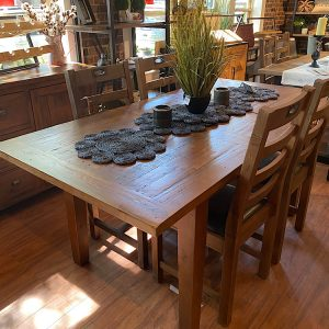 """ONE LEFT New England Medium 55/71"""" Extending Table in Coffee Bean"""