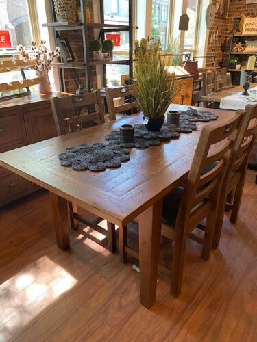"PRE ORDER New England Medium 55/71"" Extending Table in Coffee Bean"