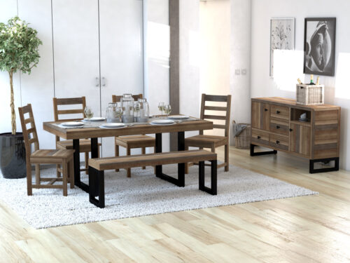 PRE ORDER Brooklyn Small 140/180cm  Extending Table Set