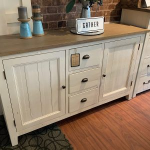 LAST ONE. New England FSC Large Sideboard in White Two Tone