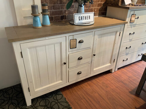 LAST ONE New England FSC Large Sideboard in White Two Tone